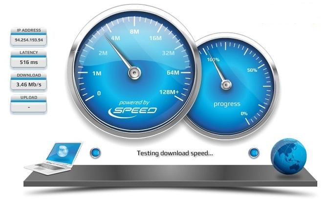 szybkość internetu test