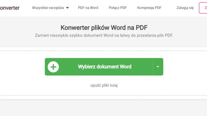 WordToPDF konwerter plików Word na PDF
