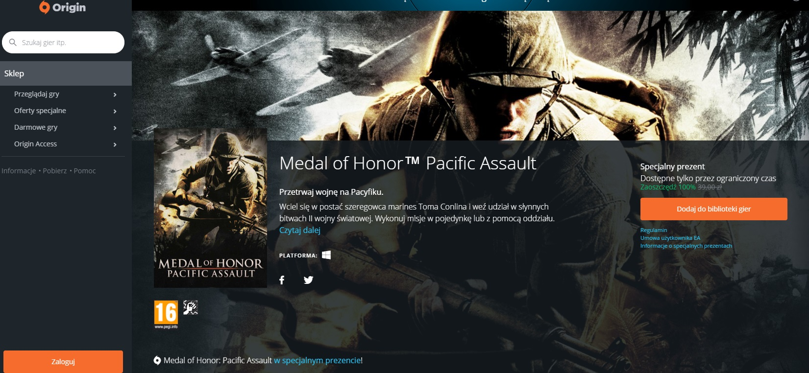 Medal of Honor: Pacific Assault za darmo do pobrania pełna wersja gry