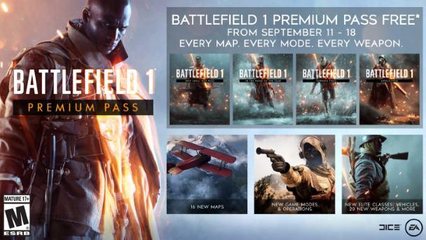 Battlefield 1 Season Pass za darmo do pobrania