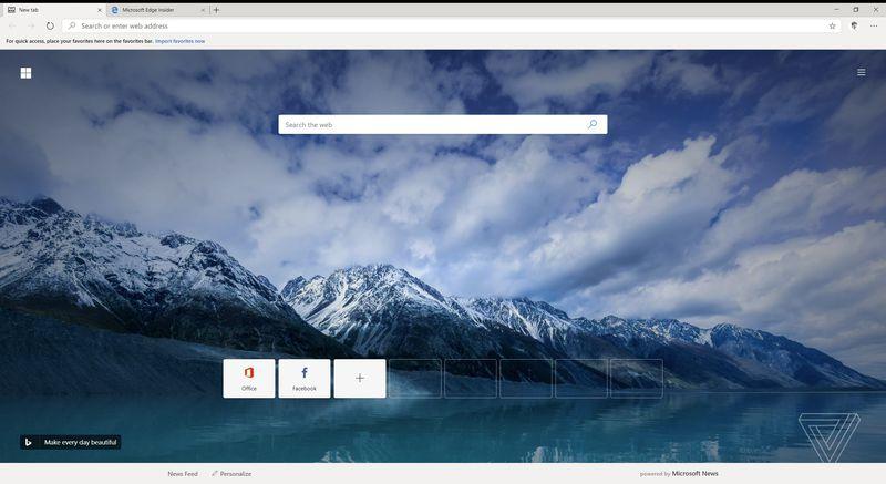 Microsoft Edge z silnikiem Chromium