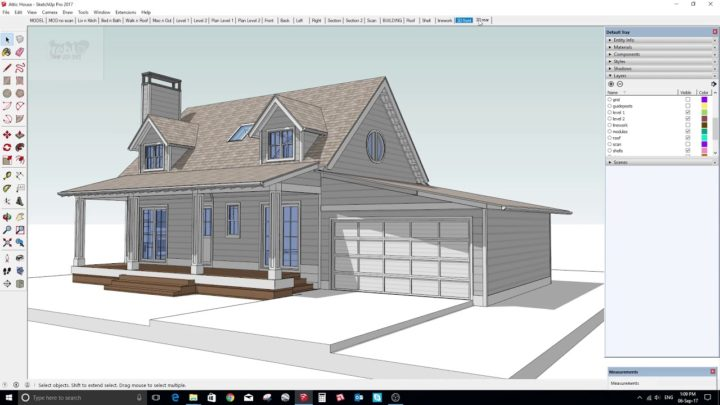Google SketchUp Free program CAD