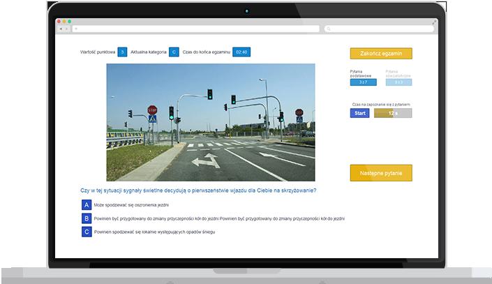 nowe testy na prawo jazdy b online