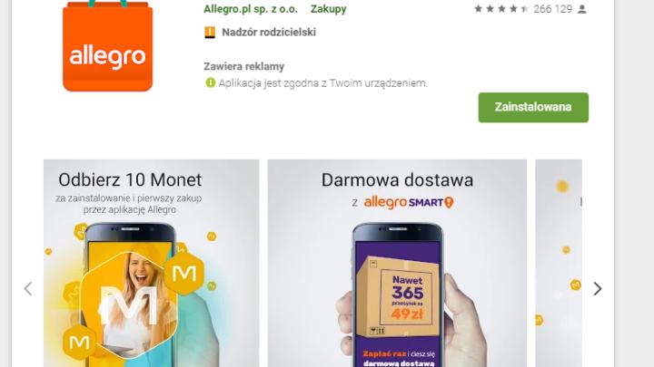 Allegro darmowe monety w aplikacji