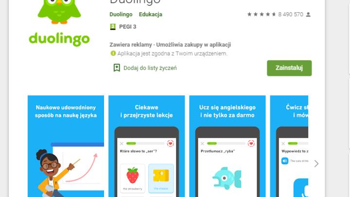 Angielski za darmo z DuoLingo