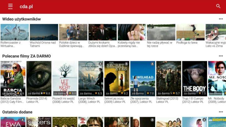 cda.pl aplikacja do oglądania filmów online za darmo