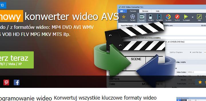 AVS Video Converter darmowy konwerter filmów