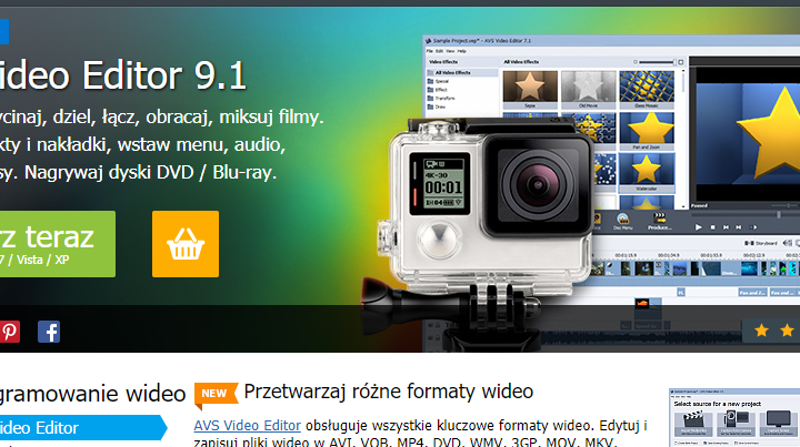 AVS Video Editor program do edycji filmów