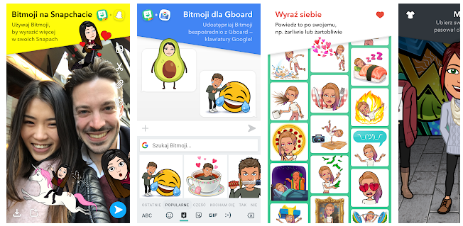 Bitmoji osobiste Emoji aplikacja