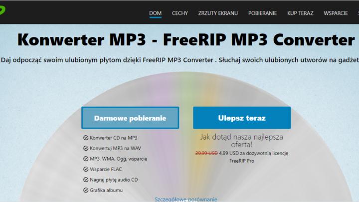 FreeRIP konwerter MP3 za darmo