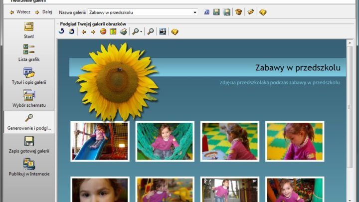 Galernik NxG program do tworzenia internetowych galerii zdjęć