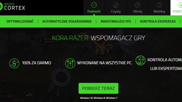 Razer Game Booster przyspieszanie gry