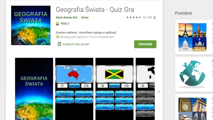 Geografia Świata Gra Quiz