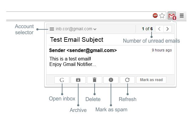 Gmail Notifier powiadomienia w przeglądarce
