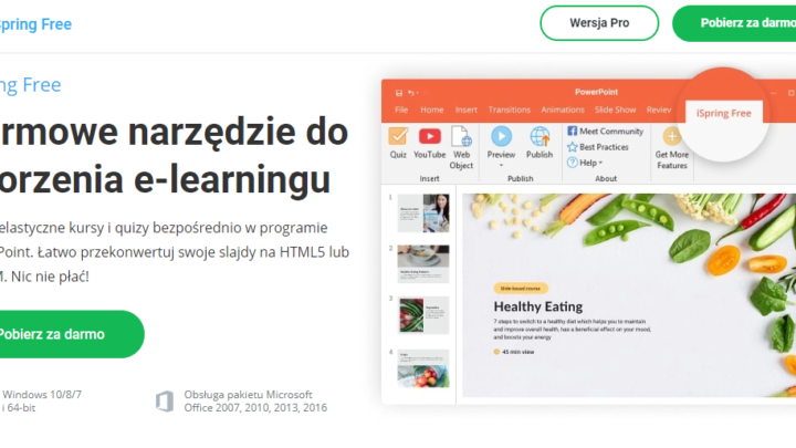 iSpring Free program do tworzenia kursów e-learning