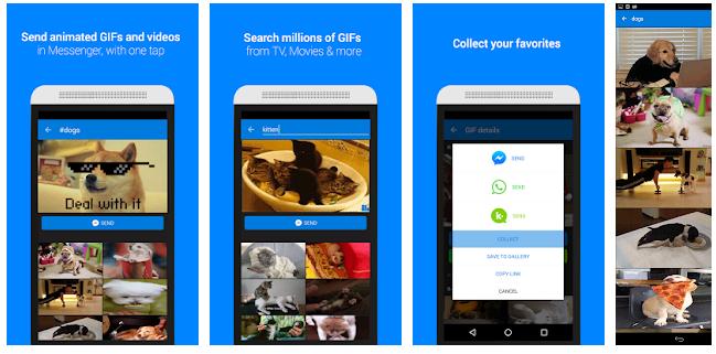 Klawiatura GIF wyślij bezpośrednio aplikacja