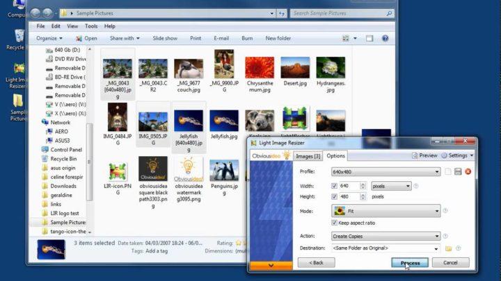 Light Image Resizer program do zmiany wielkości kilku zdjęć