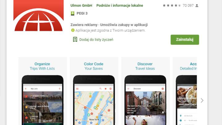 CityMaps2Go mapy offline za darmo