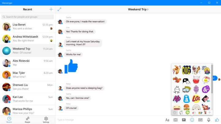 Facebook Messenger na komputer Windows
