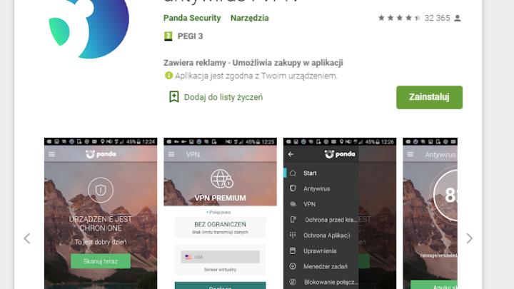 Panda Security bezpłatny antywirus i VPN