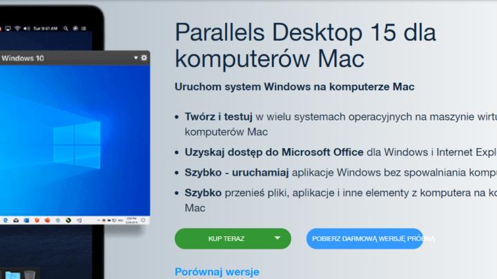 Parallels Desktop Mac za darmo do pobrania