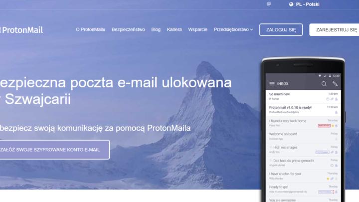 ProtonMail bezpieczna poczta e-mail szyfrowana