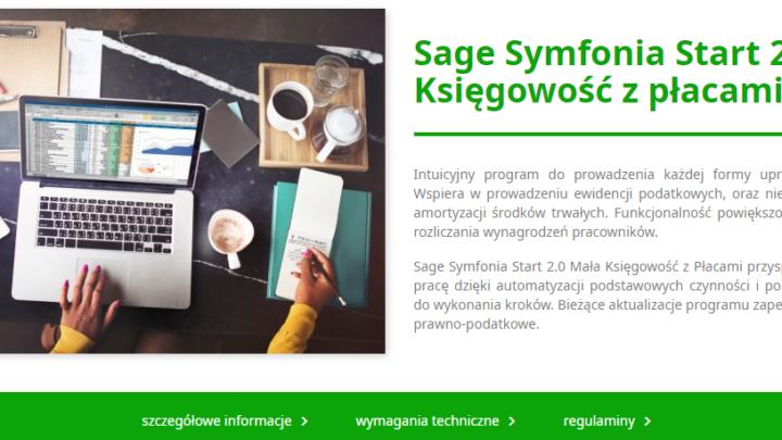 Sage Symfonia Start 2.0 Mała Księgowość z płacami