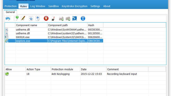 SpyShelter Free program do wykrywania keyloggerów