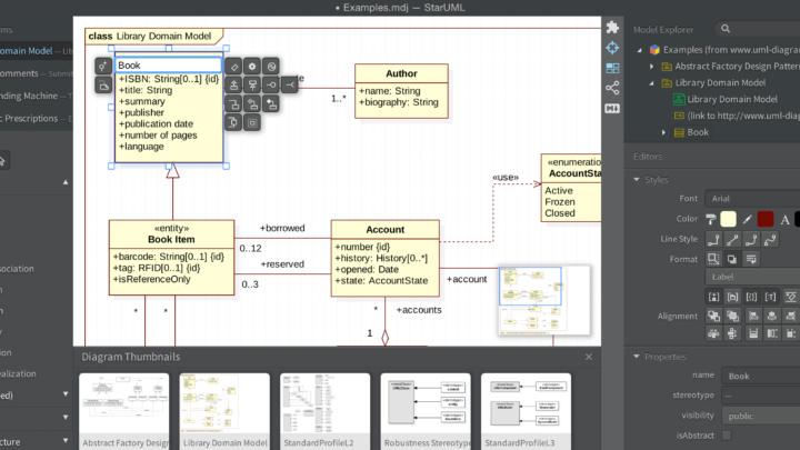 StarUML narzędzie do modelowania UML