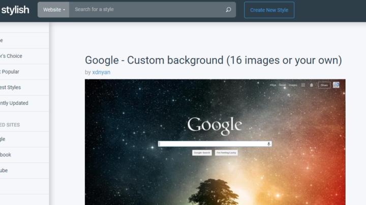 Stylish modyfikacja wyglądu stron internetowych