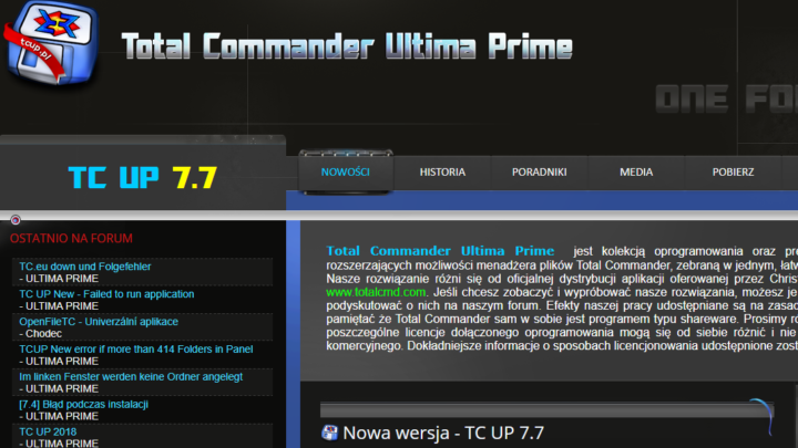 Total Commander Ultima Prime za darmo