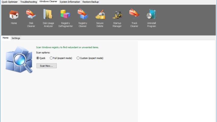 TweakNow RegCleaner program do czyszczenia rejestru