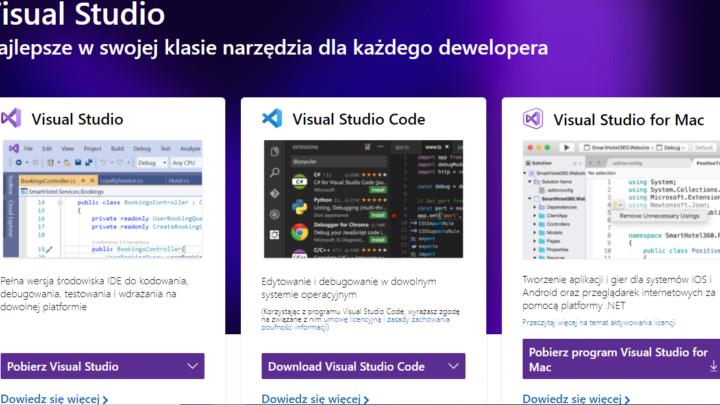 Visual Studio tworzenie aplikacji Android, iOS i Windows