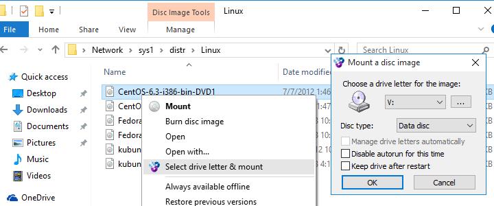 WinCDEmu ISO emulator CD / DVD / BD
