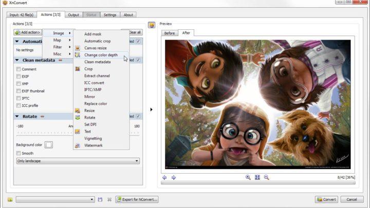XnConvert program do zmiany rozmiaru zdjęć