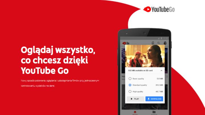 YouTube Go pobieranie filmów i oglądanie offline