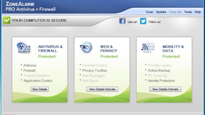 ZoneAlarm Pro Antivirus Firewall za darmo