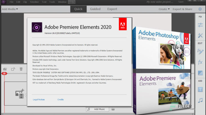Adobe Premiere Elements za darmo do pobrania