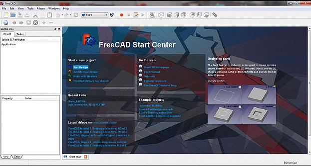 freeCAD darmowy program CAD 3D