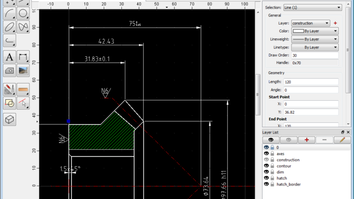 QCad 2D CAD dla Windows, Linux i Mac