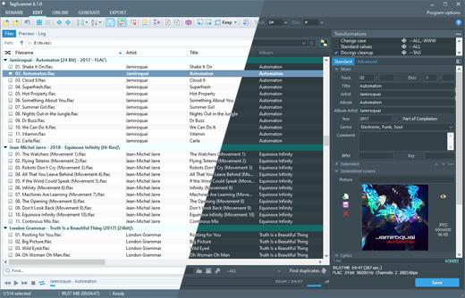 TagScanner program do zarządzania kolekcją muzyki