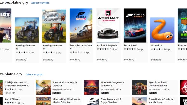 32 gry za darmo na PC od Microsoft Store