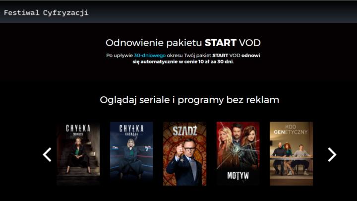 Player.pl za darmo START VOD 30 dni