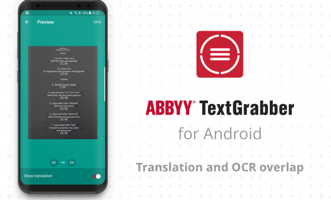 ABBYY TextGrabber PREMIUM za darmo
