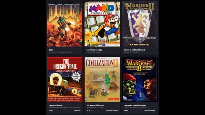 Stare gry za darmo w przeglądarce internetowej